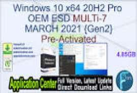Windows 10 X64 21H1 Home 3in1 OEM ESD fr-FR JUNE 2021 {Gen2}